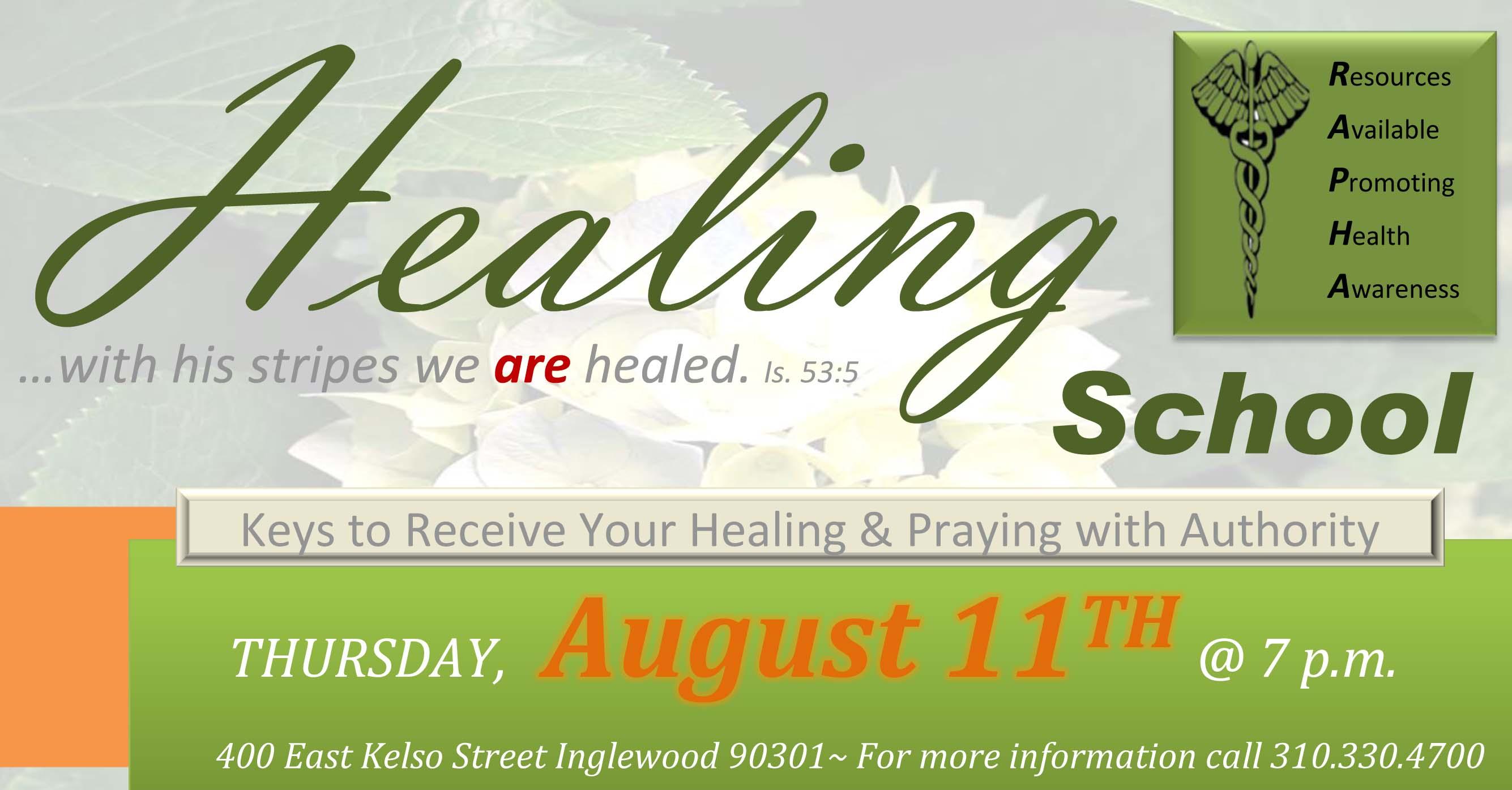 Healing School Aug 11