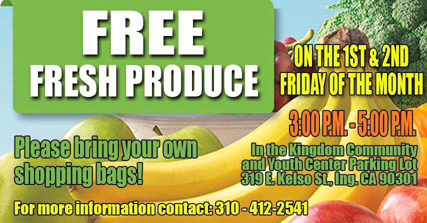 Produce 3-5pm Fridays