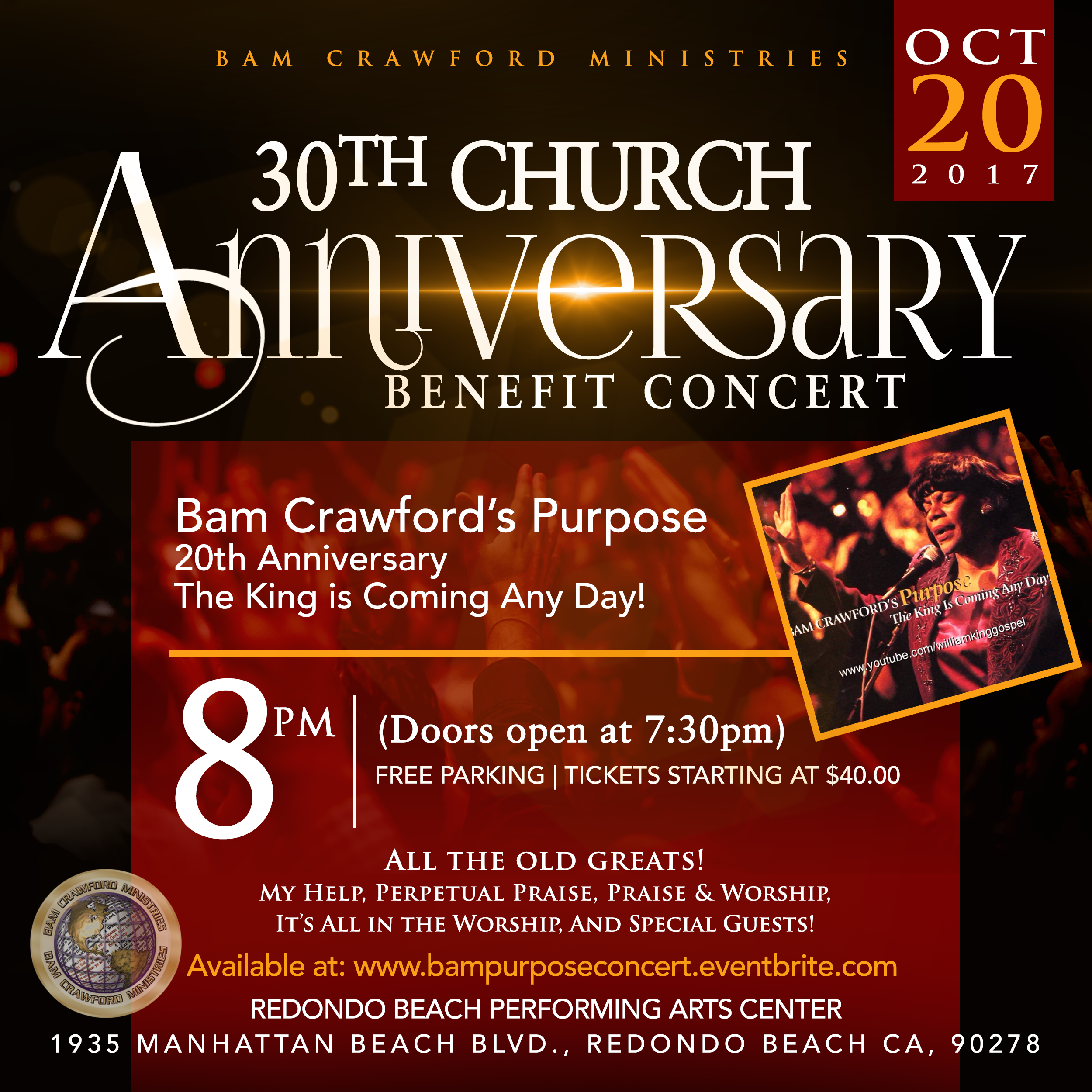 30th Church Anniversary Benefit Concert